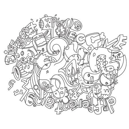 Doodle Crazy Vector