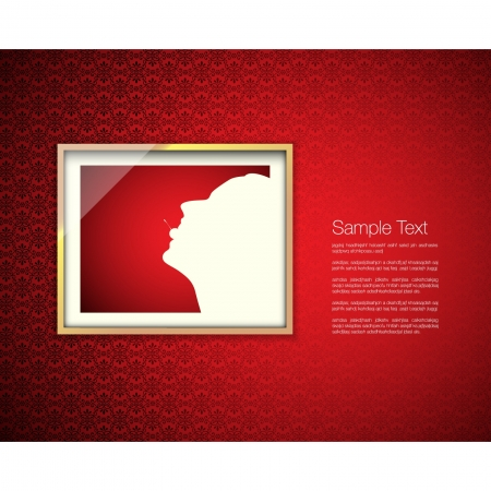 frame on wall Vector