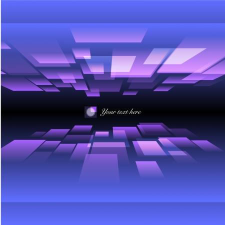 Perspectief kubus Dimension Vector Illustratie