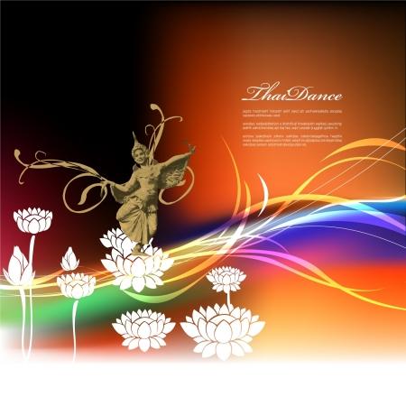Thailand dancing Stock Vector - 14799028