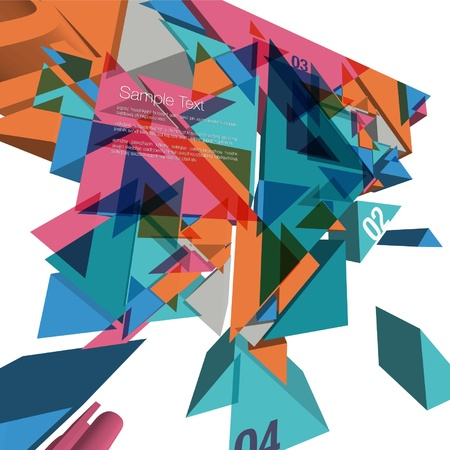 3D Geometric Colorful Design Vector