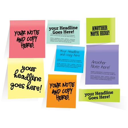Sticky notes Stock Vector - 14799007