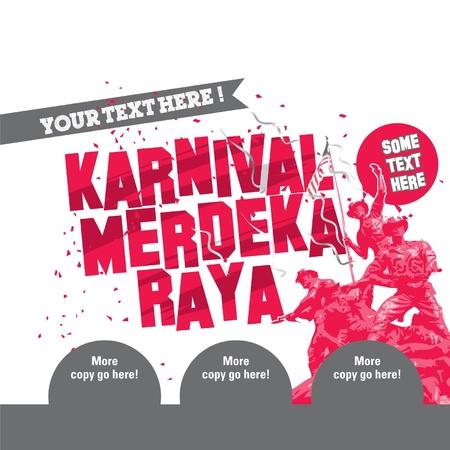 merdeka: Carnival Independence Day and Raya Illustration