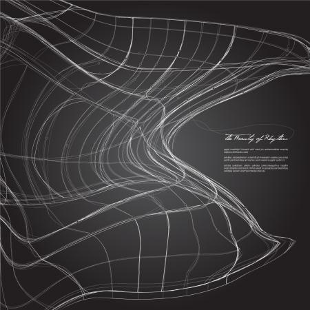 3D swirl contour Illustration