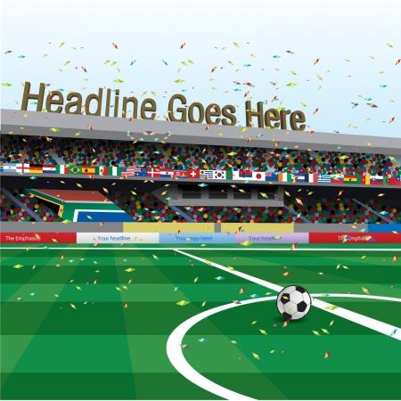 scorebord: Voetbalstadion viering