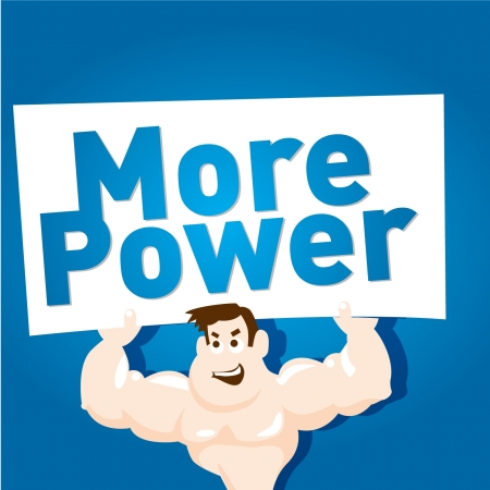 Cartoon bodybuilder Stock Vector - 16324371