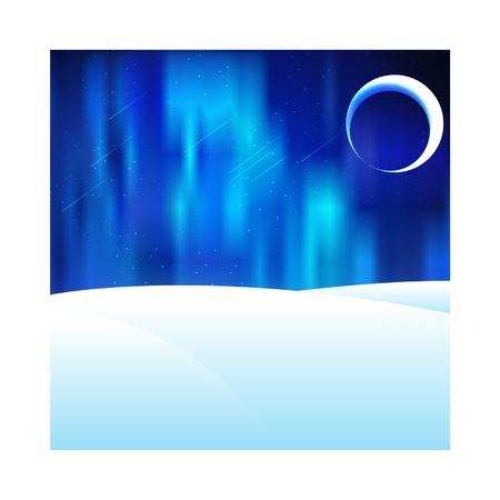 aurora: Northern lights  Aurora  on iceland Illustration