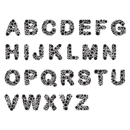 microorganism: Microorganism round font Illustration
