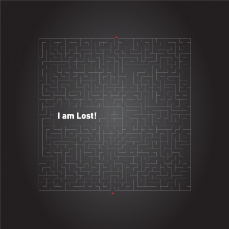 Lost in Maze Illustration