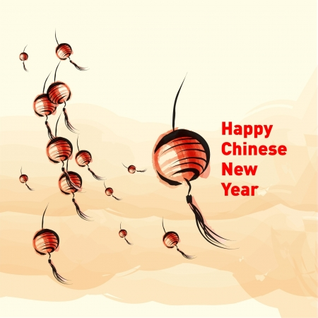chinese art: Happy Chinese New Year