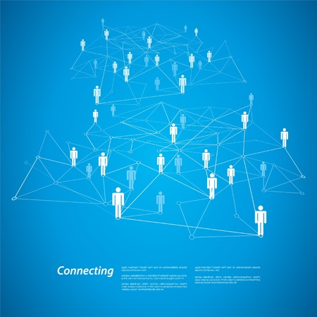 Connecting People Vector