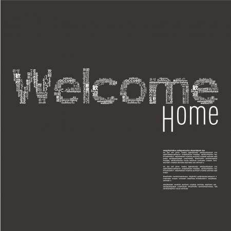de bienvenida: Palabra de bienvenida en diferentes idiomas Vectores