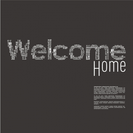 different concept: Welcome word in different languages Illustration