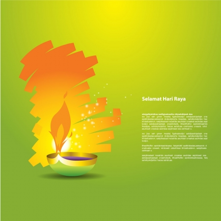 Selamat Hari Raya Lamp Stock Vector - 17931091