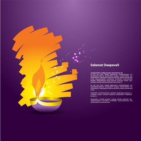 Diwali Oil lamp Vector