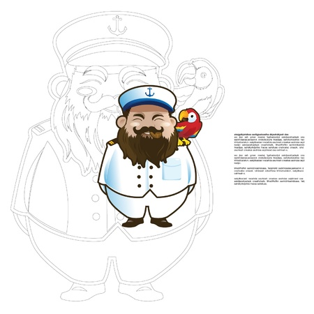 Captain with parrot Stock Vector - 17931121