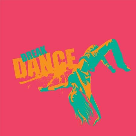 contempory: Break dance in vector format