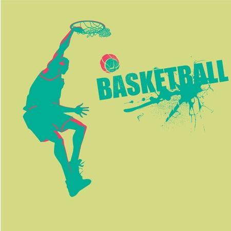 contempory: Slam Basketball in vector format Illustration