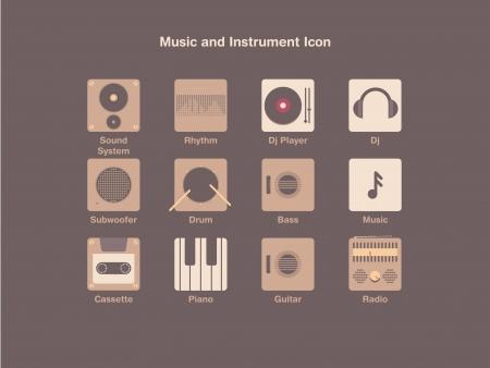 am radio: Music and Instrument Icon Illustration