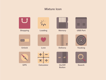 Mixture Icon Set 2 Vector