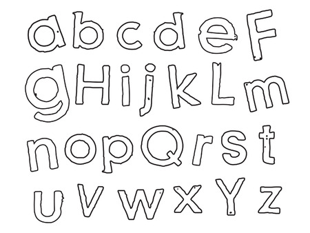 Playful Kid Outlined Font Vector