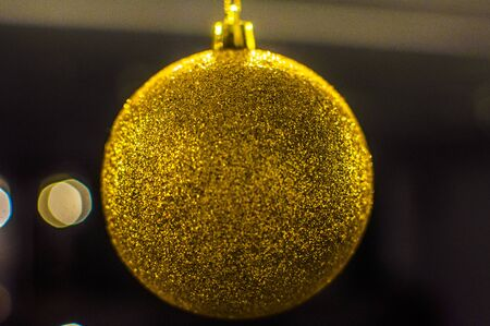 golden ball: Golden Christmas ball