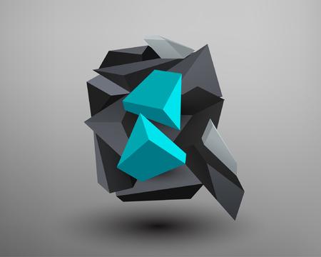 prism: 3D Prism Font - q Illustration