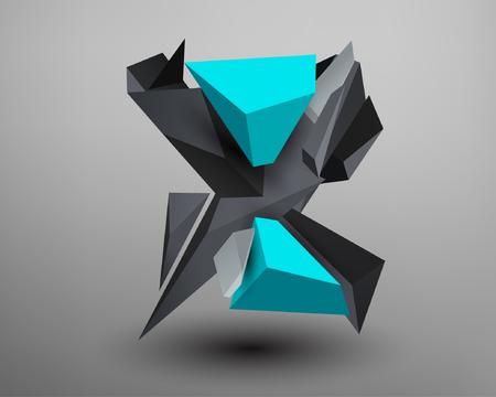 prisma: Prisma 3D de fuente - x Vectores
