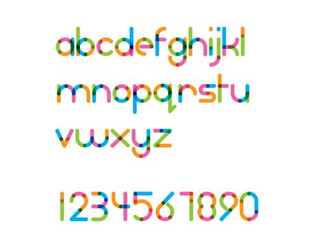 중복 다채로운 둥근 라인 글꼴 - 일반