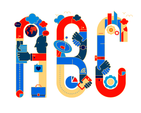typeface: chinese version fonticon typeface - ABC
