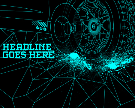 tire: Durability Speed Tyre Design Template with Tron Effect