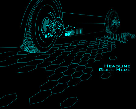 tron: Speed Technology Template with Tron effect