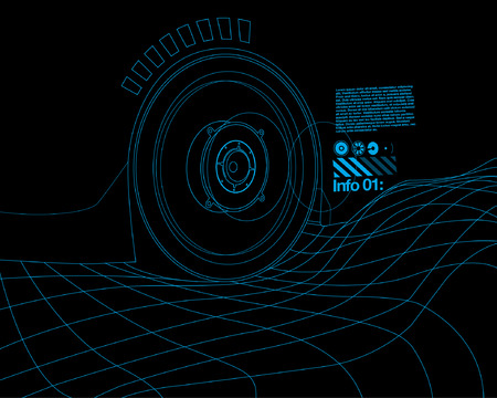 tron: Speed wave Design Template with Tron Effect