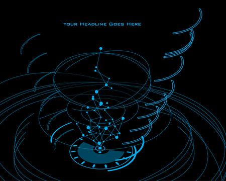 tron: Swirl Design Template with Tron Effect