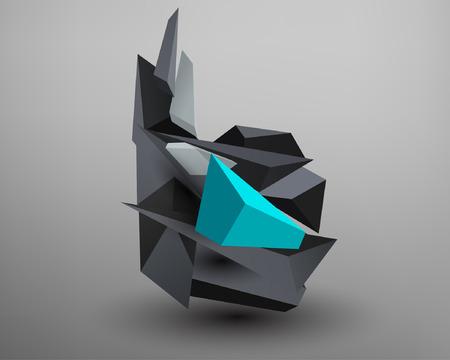 prism: 3D Prism Font - B