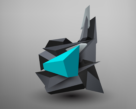 prisma: 3D Prism Font - D Vectores