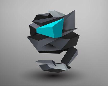 prism: 3D Prism Font - G Illustration