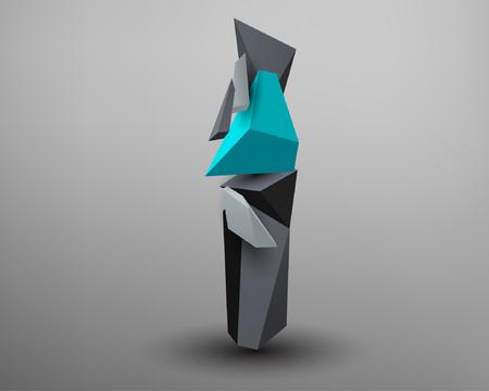 prism: 3D Prism Font - I Illustration