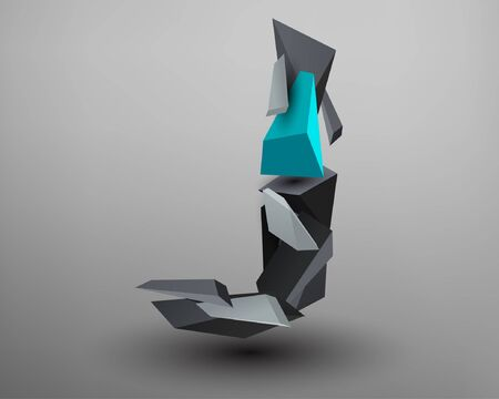 prisma: 3D Prism Font - J