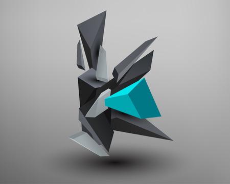 prism: 3D Prism Font - K Illustration