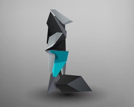 prisma: Prisma 3D de fuente - L Vectores