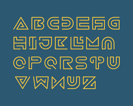 Snake Stripe Font Set. Regular