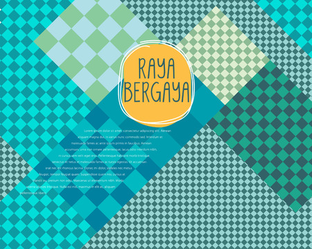 aidilfitri: Abstract geometrical pattern Design template. Raya bergaya mean celebrate Aidilfitri with style.