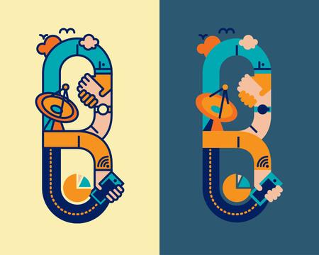 convergence: fonticon typeface - B