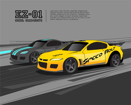 auto: Racing Car Template Design Vettoriali