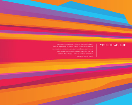vibrance: Colourful Speed stripes design template Illustration