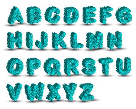 micro: 3D micro dot font