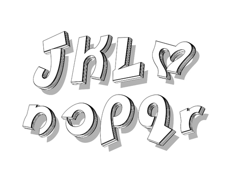 playful: vector of stylized playful doodle alphabets