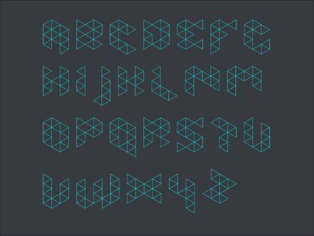 fonts music: Outline Prism Font