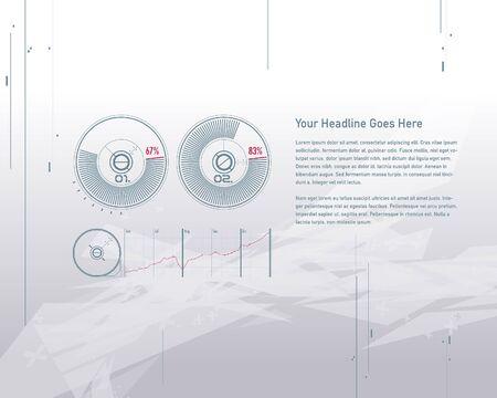 sci: Set elements of infographics design template